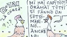 Chicken dinosaur - Il pollo dinosauro - Q-721 motion comics & italian webmanga - モーションコミック、4コマ漫画
